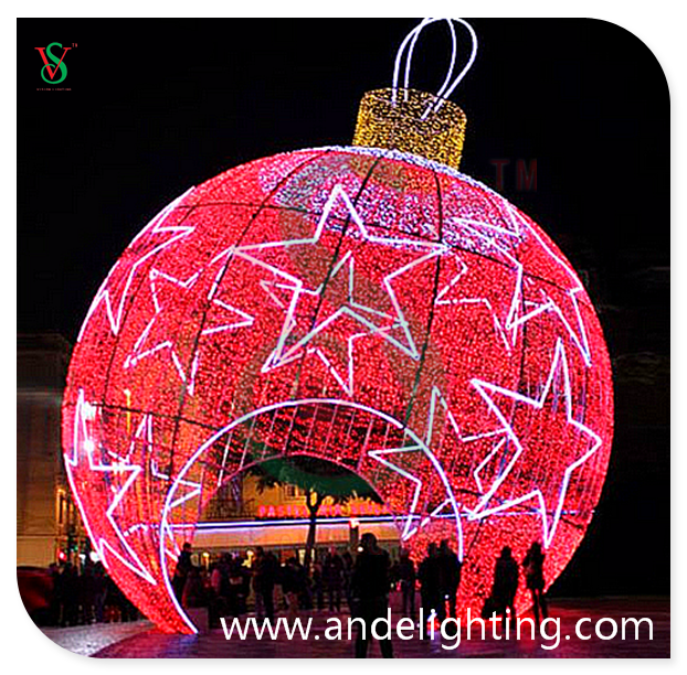 3D Giant Arch Christmas Ball decoration LED Motif Light