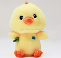 professional customized soft stuffed plush animals toys yellow plush chicken