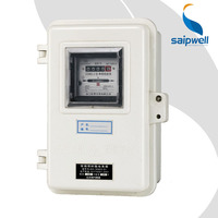 SAIP/SAIPWELL New Product Prepaid Electricity Meter Manufacturers Metal Enclosure Metal Water Meter Box