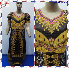 Wholesale African Dress Patterns Embroidery Dashiki Dresses Bazin African CL4177