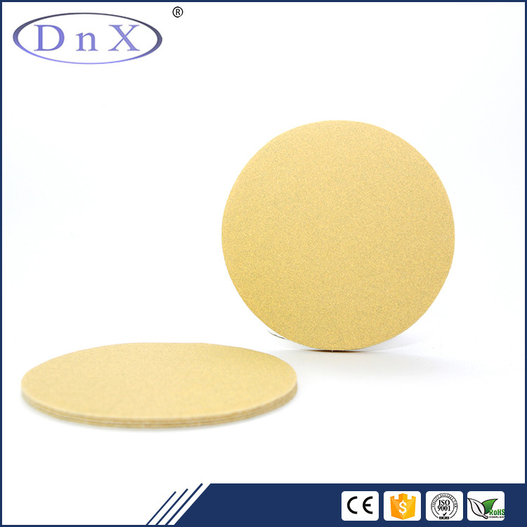 China supplier aluminum oxide 600# 6inch gold abrasive disc for automobile