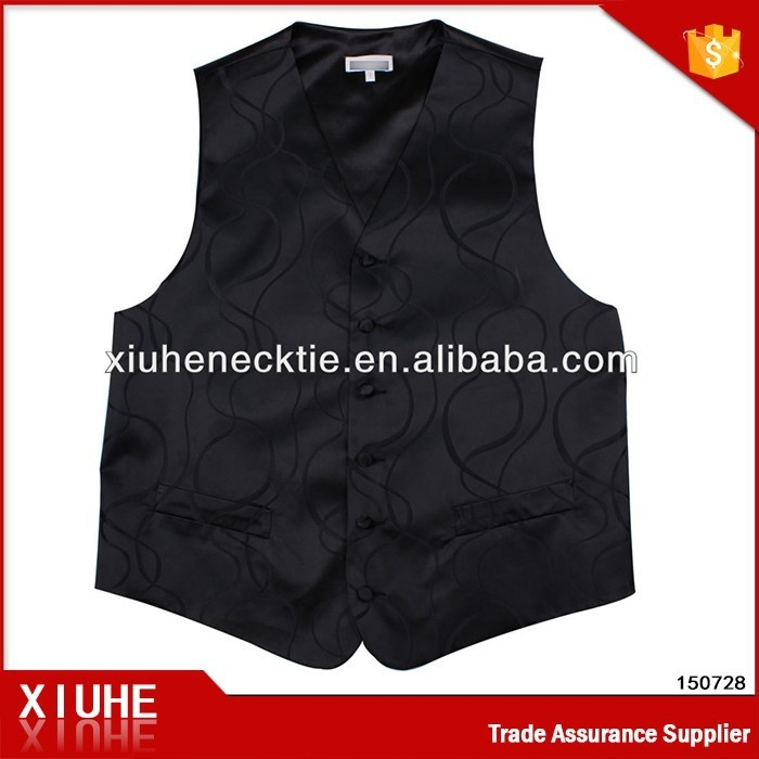 China Supplier High Quality Young Fashion Black Men Vest