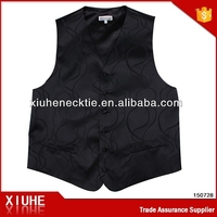 China Supplier High Quality Young Fashion Black Men Vest 2015