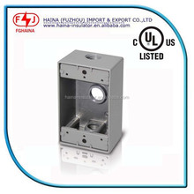 China Die-cast weatherproof aluminum outlet box