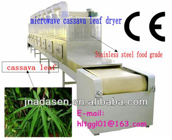 Microwave Tunnel Industrial Dehydrating Machine for cassava leaf /Commercial Dehydrating equipment for sterilization