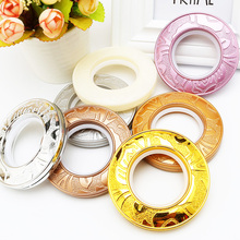 Plastic curtain eyelet rings abs shower curtain rings for curtain