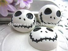 Flat back resin skull phone hair decoration new design free shipping