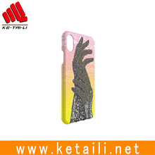 Mobile phone case for iphone 8 with water imprint printing made in Shenzhen