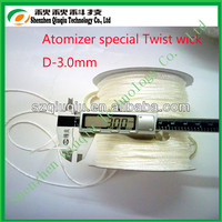 Hotting sell 3mm glass fiber wick /silica wick best quality low price