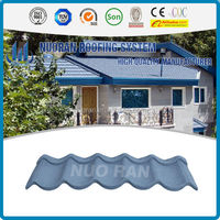 Nuoran Roof Material CE Certificate shingle mixed color stone coated steel roof tile/Aluminium Zinc Sheet/Tile Roof