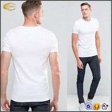 Ecoach 2016 Good Quality Wholesale Custom <strong>Logo</strong> 220 GSM100% Cotton Round Neck Short Sleeve Mens White Fitted Tshirts