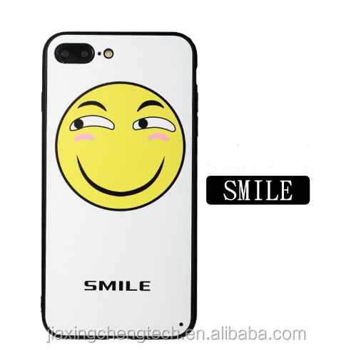 Cute Funny emoji phone Case For iPhone 5 5s 6 6s 6/s plus 7 7p Clear Silicone Cellphone Cases Cover Facial Emotion Collection