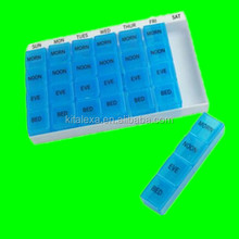 KA-PB000165 ABS Plastic Type Travel Pill Medicine Organizer 28 Compartments Portable Pill Dispenser 7 Days Weekly Pill Box