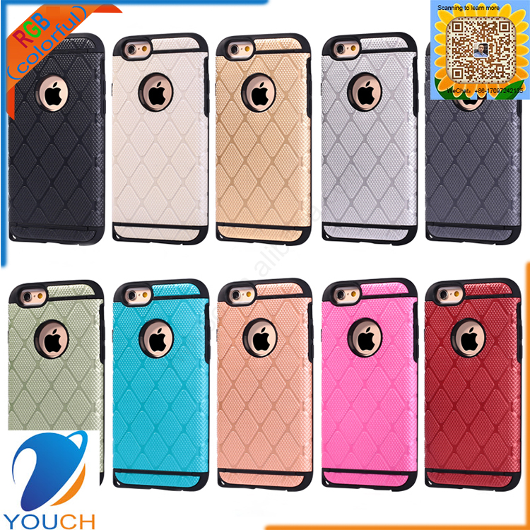 2 in 1 soft tpu+hard pc material matte design phone case for iPhone 6 6s 6 plus 6s plus