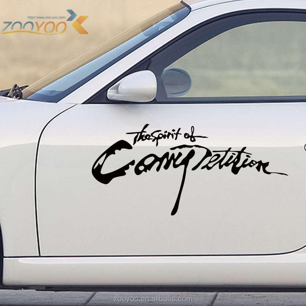 New car sticker design - Vinyl Car Srickers Zooyoo Art Vinyl Sticker For Car Removable Car Sticker Design Car Decoration