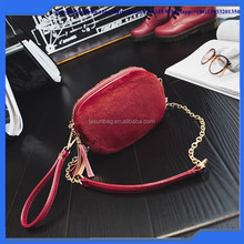 Portable Women Plush Purse Bags Small Cute Rabbit Fur Sling Shoulder Bags for Girl