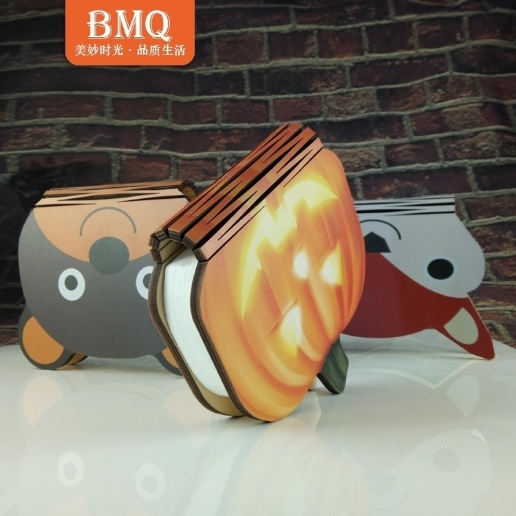 Hoot Selling books page seven creative lamp Nightlight USB charging LED folding book lamp decoration bedside lamp