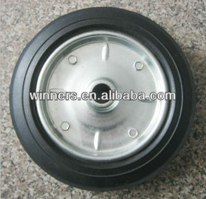 "8""x2"" solid rubber wheel with rubber strip , airless tire"