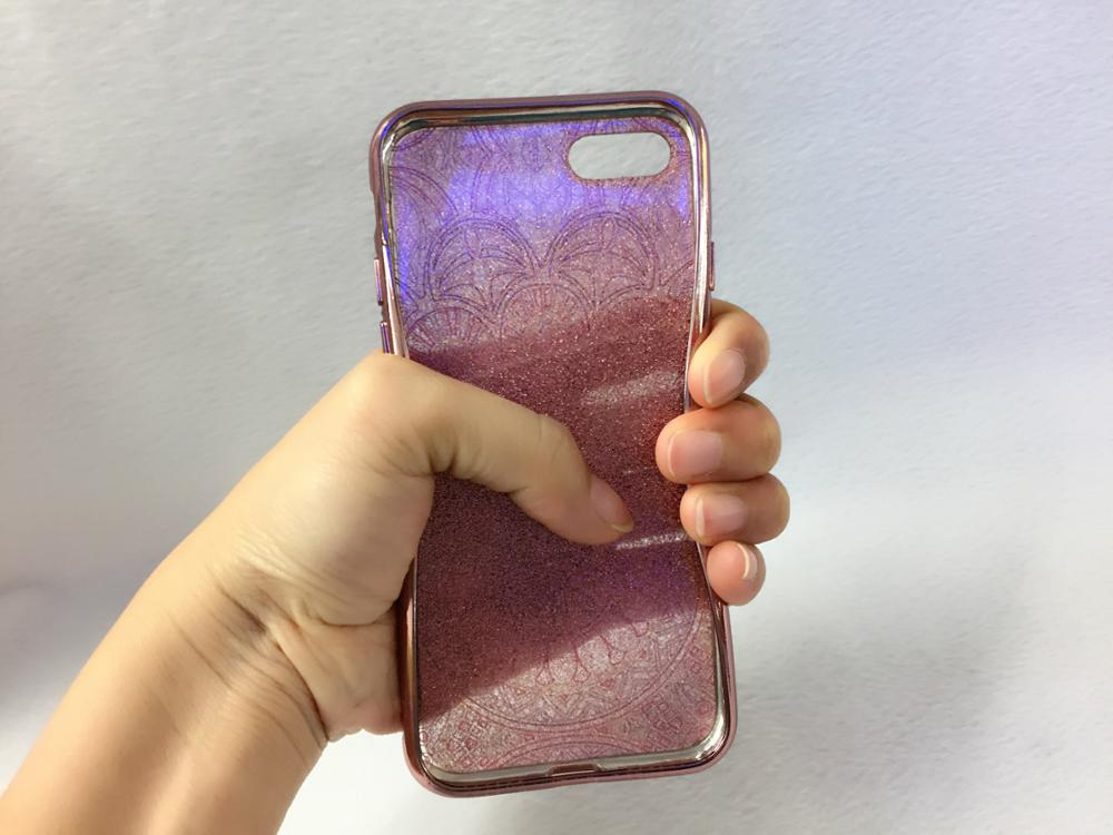 2017 Electroplating IMD glitter tpu mobile phone case cover for iphone 7, glitter mobile cover for iphone 7 7plus