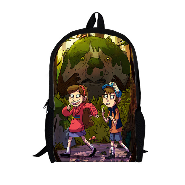 2015 cartoon Mabel Gravity Falls kids school bags girl shopping teenager backpacks for student boys Travel bags