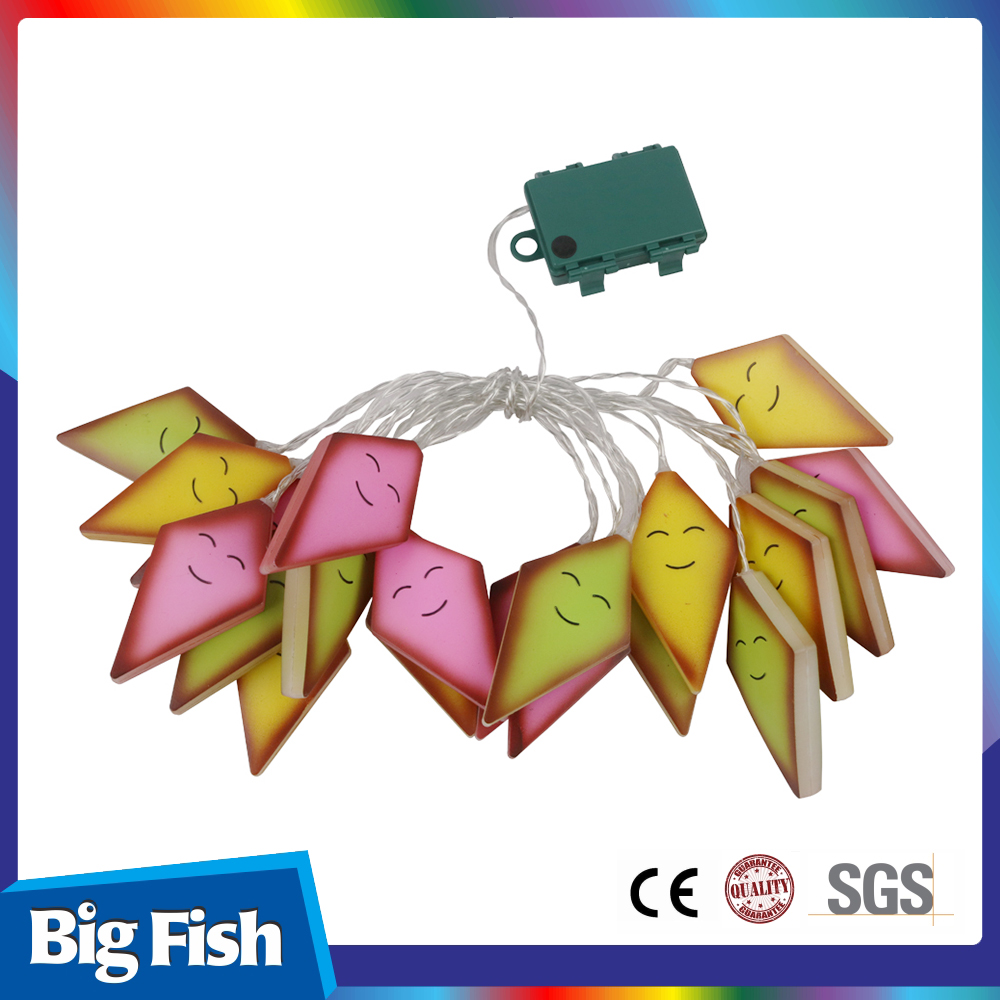 Various Color Cute Backyard Plastic Kite Chain String Lights