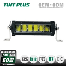 Off road 8 inch 30W 60W sinlge row slim 4x4 black coated led light bar with CE ROHS IP68 Certification