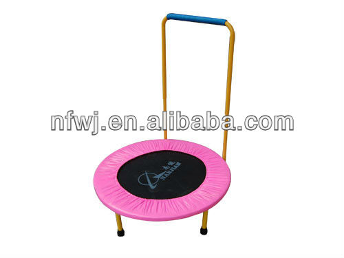 folding round pink cheap mini 60 inch trampoline with handle