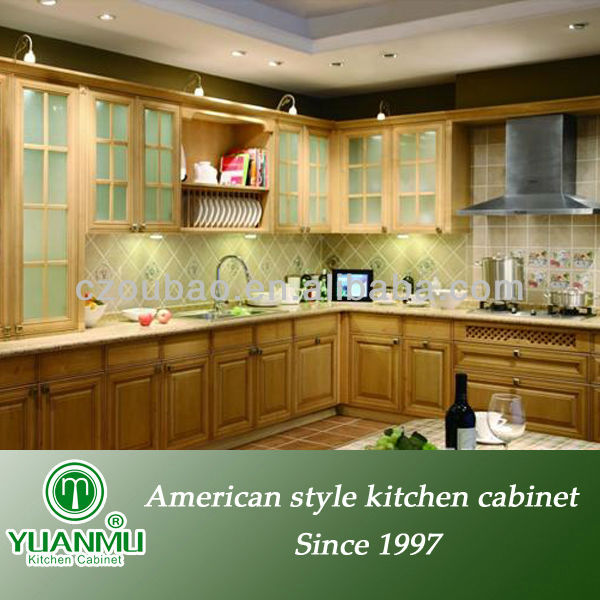 ready assemble kitchen antique solid wood cabinet