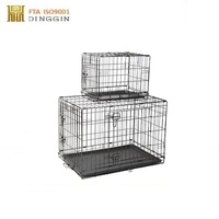 China factory wholesale pet cage, foldable dog crate