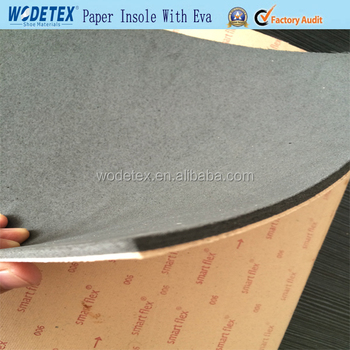 WODETEX Paper insole board with black eva