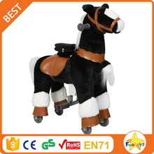 Funtoys CE kid baby wooden moving horse toys