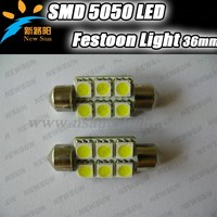 Manufacturer Product 36mm 12v SMD 5050 Auto LED Dome Light Festoon Lighting For Car