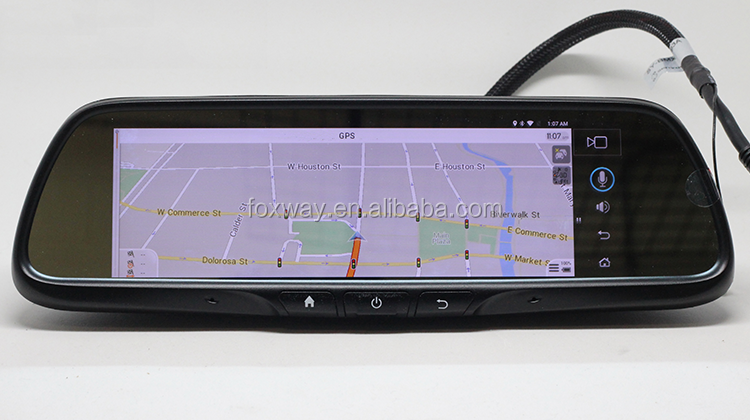 Android Smart Car rear view Mirror with 3G Calling GPS WiFi FM Blutooth Reverse Camera