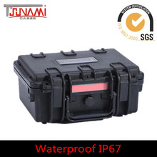 Plastic hard shell waterproof stun gun case/military carrying army use case tools box