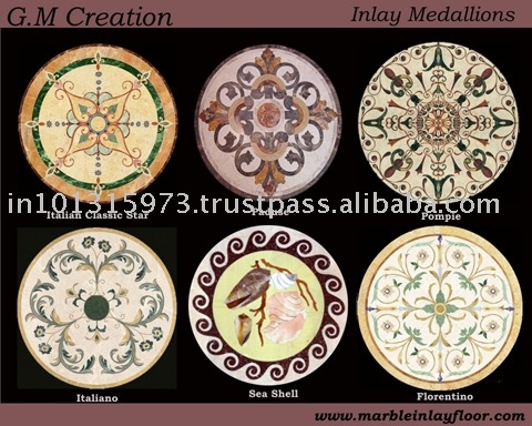 MARBLE INLAY MEDALLION