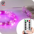 Gift Sets Favor Battery Operated Timer Remote Waterproof Christmas LED Copper Wire Timer String Lights