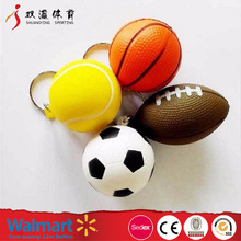 cheap anti pu foam stress toy ball,cute PU stress ball keychain with different sport ball shape