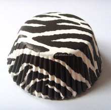 Large Stock, High quality low price stripe black greaseproof paper cupcake liner muffin baking cup cake case