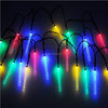 20Led Icicle Solar Powered String Lights Hanging Ornament/Multicolored Solar Powered Led Icicle Outdoor Decorative String Light