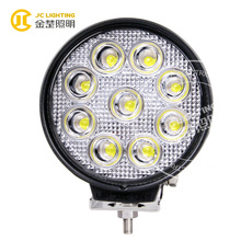 Newest 27w 12v car led spot work light for truck,jeep,trailer,4x4,police car