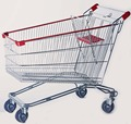 Custom chrome metal grocery store shopping cart top quality
