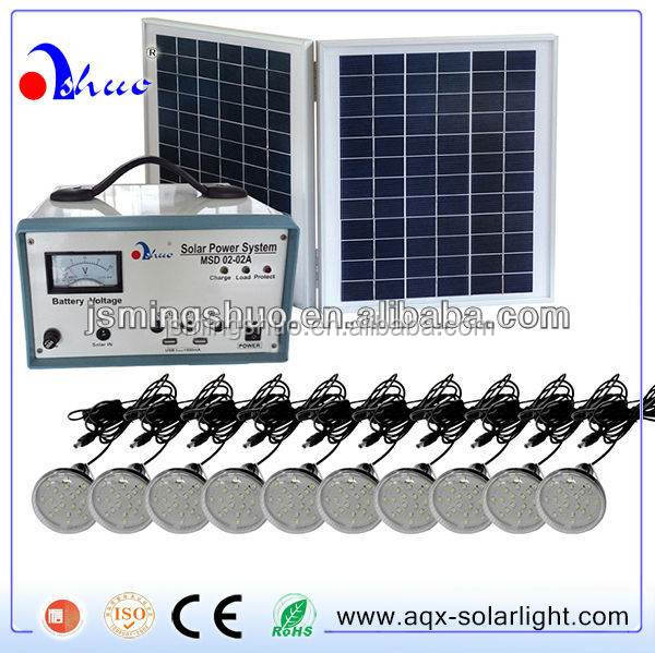 20W Solar energy home system/kit with 10 LED lights
