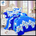 changxing good breathable polyester brushed print bedsheet fabric