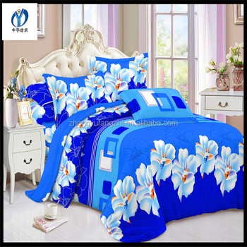 changxing good breathable polyester brushed print bedsheet fabrics