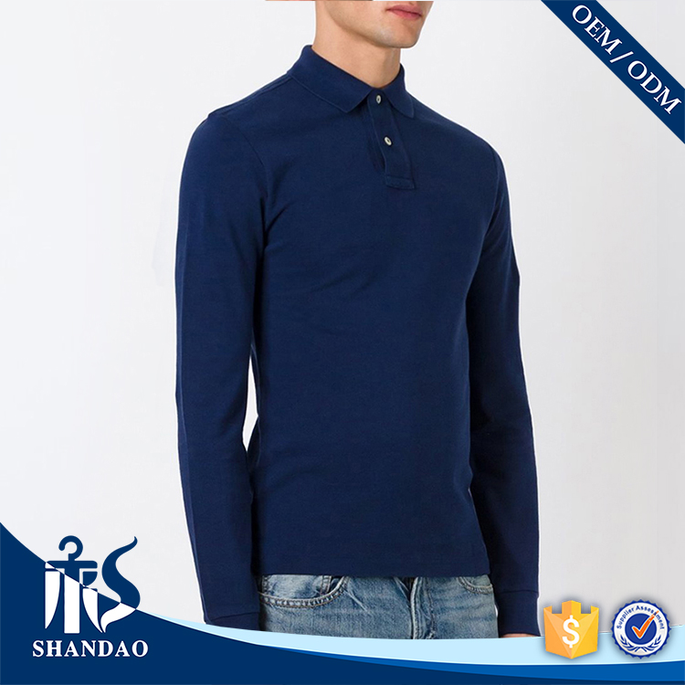 Guangzhou shandao factory casual long sleeve 180g 70%viscose 30%polyester mens fashionable polo