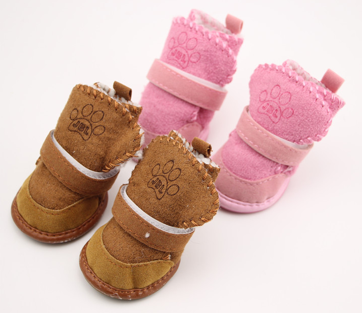 pet dog shoes pet Snow boots cats cool weather pet product velvet shoes