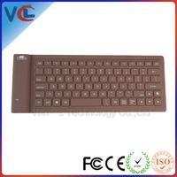 tablet bluetooth foldable silicone keyboard