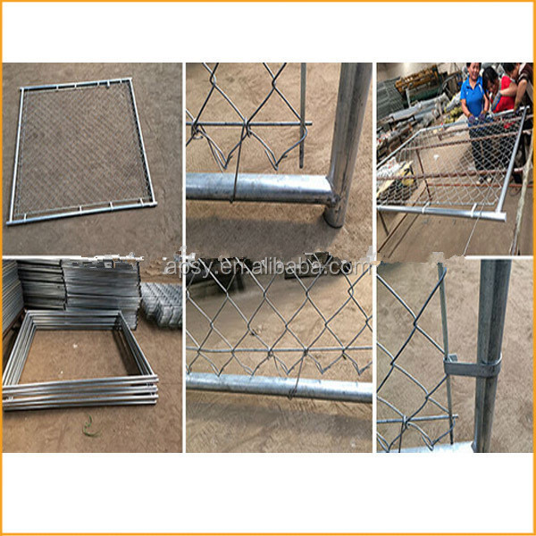 2.3 x2.3 x 1.2m Square Model Pet Dog Enclosure Run Kennel Chain Link Fence FREE Enclosed Roof