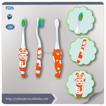 new special shape kids translucent plastic cup lovely toothbrush/ best selling kids plastic toothbrush set manufactory