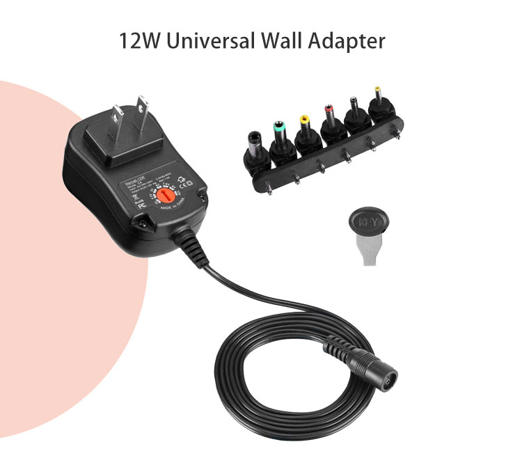 Universal power adapter travel converter us eu uk 12w with many output